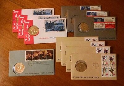 LOT of 11 Bicentennial Commemorative Medals - FIRST DAY Issues - Various Dates