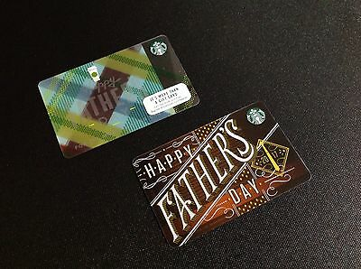 Starbucks Father's Day Gift Card -- Lot Of 2 Pcs. -- New