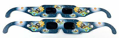 Kids' Solar Eclipse Glasses - 2 pairs - premium quality viewers by Lunt Solar