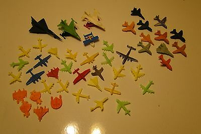 Vintage Plastic and Rubber toy Airplanes jets Lot of 46