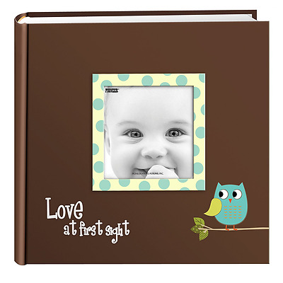 Pioneer Photo Albums EV-246FB/O 200-Pocket Baby Owl Printed Designer Frame Cover