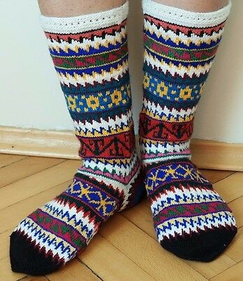 New Turkish Handcrafted Naturel Wool Women Socks-Gift-Warmly-Winter