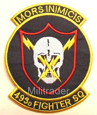 United States (US) Air Force 493rd Fighter Squadron Patch
