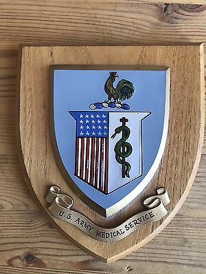 US Army Medical Service Military Plaque Nice Item