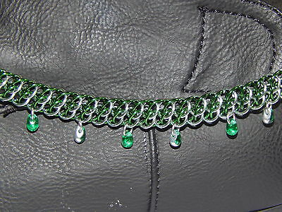 Hand-Made Anodised Aluminium Chain Maille Detachable Boot anklet & charms