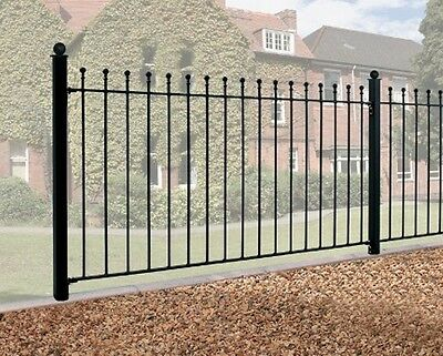 3ft BALL TOP WROUGHT IRON METAL FENCING/RAILINGS RAILING