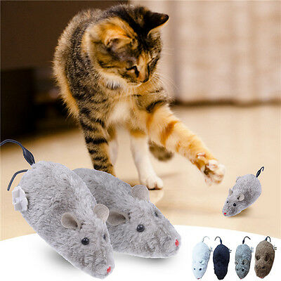 Clockwork Spring Control Plush Rat Mouse Mice Toy For Cat Gift