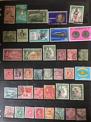 stamps  Jamaica - MLH and Early Used - Lot 87