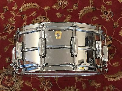 """Ludwig 14"""" x 6.5"""" LM402 Supraphonic Snare Drum (as new condition)"""