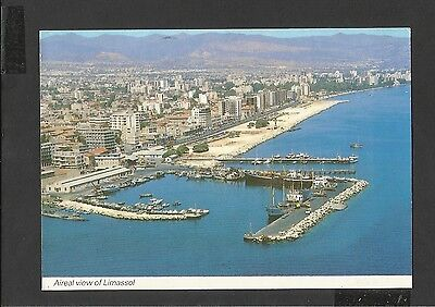 Colour Postcard Aireal View Limassol Cyprus posted 1992