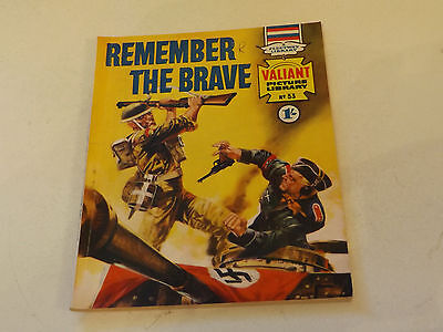 VALIANT PICTURE LIBRARY,NO 53,1965 ISSUE,GOOD FOR AGE,52 yrs old,V RARE COMIC.