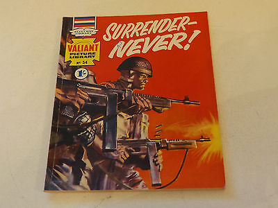 VALIANT PICTURE LIBRARY,NO 54,1965 ISSUE,GOOD FOR AGE,52 yrs old,V RARE COMIC.
