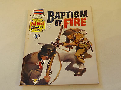 VALIANT PICTURE LIBRARY,NO 59,1965 ISSUE,GOOD FOR AGE,52 yrs old,V RARE COMIC.