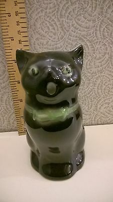 Vintage Tony Wood Studio Lucky Black Cat Jug-5""