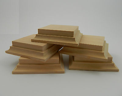 X5 Wooden bases in alder for foot figure 75-90mm