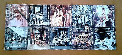 GB QEII Comm. Stamps. 2003 (SG 2368-2377) 50th Anniv. Coronation. Set from FDC