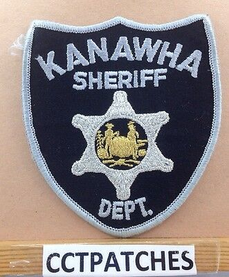 Kanawha County, West Virginia Sheriff Police Shoulder Patch Wv