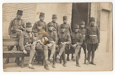 Military Portrait Among Them One Child, Time Alfonso Xiii, Ancient Photo Spanish