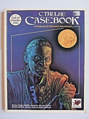 CTHULHU CASEBOOK, CALL OF CTHULHU 1920s, H.P.LOVECRAFT, CoC, 3305, c/w HANDOUTS