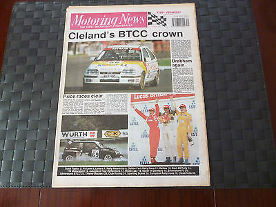 Motoring News October 11 1989 John Cleland Btcc Crown,david Brabham,john Price