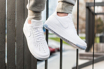 Men's Nike Air Force 1 Ultra Flyknit Low(White-Ice) UK 10