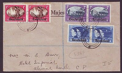 BASUTOLAND -  1945 Victory Set on registered cover(F509)
