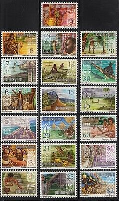 PNG 1973 Panorama definitives set of 19 values, mnh