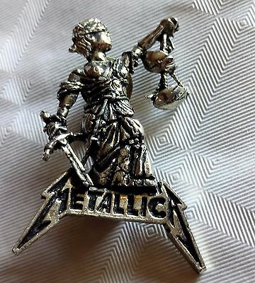 Pin pins badge buttom broche METALLICA AND JUSTICE FOR ALL - 1