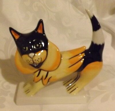 RARE Lorna Bailey Cat with Mane Colourway 1/6  Signed in Blue & in Gold