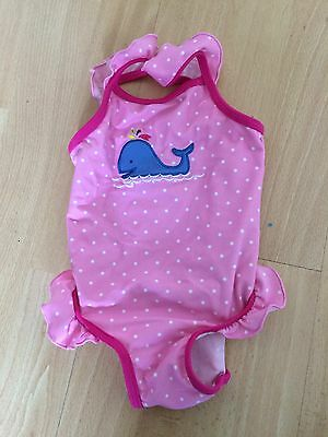 Lovely Girls Pink Swimsuit 3-6 Months. Mothercare.