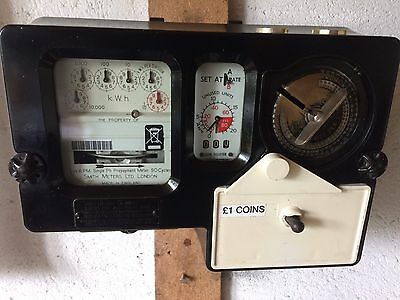 Electric New/old ££££ /eurocoins Kwh Meter