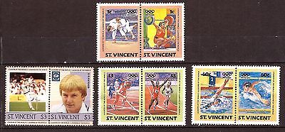EP207 St.VINCENT  4 X2 timbres neufs :SPORT,football waterpolo lutte haltere