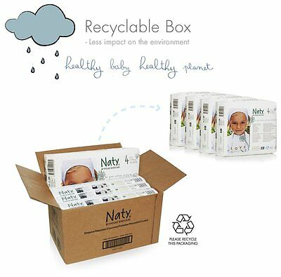 Naty By Nature Eco Nappies Diapers Size 1 2 3 4 4+ 5 Monthly Saving Pack Free PP