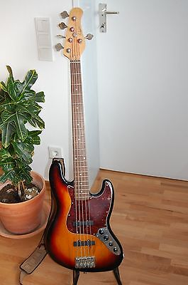 5 String Bass made in Germany by German Luthier Schmitz, Fender Jazz  Bass Style