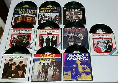 "the beatles 7"" dischi 45 giri japan press lotto vinili da collezione rari"