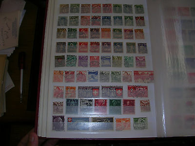 Suisse 150 Timbres Obliteres Differents