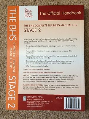 BHS Complete Training Manual for Stage 2 by Islay Auty (Paperback, 2013)