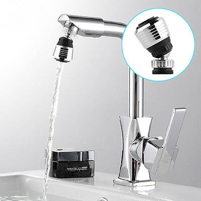Kitchen 360°Swivel Sink Faucet Bathroom Bath Water Bubbler Filter Multifunction