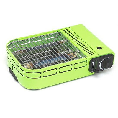 Portable Camp Grill Barbecue Camping Outdoor Picnic Gas BBQ Compact Carry Case