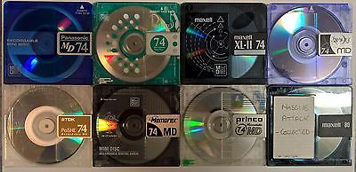 Eclectic mix eight (8) pre-owned MiniDiscs FREE PRIORITY POST