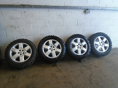 RANGE ROVER OR DISCOVERY 3 models SET 4 X19 INCH ALLOY WHEELS WITH MUD TYRES