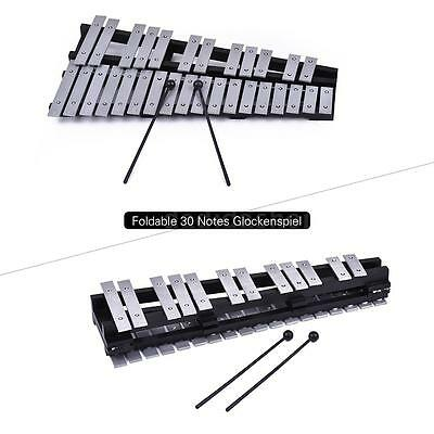 30 Note Glockenspiel Xylophone Wooden Frame Aluminum Bars with Carrying Bag B0L8