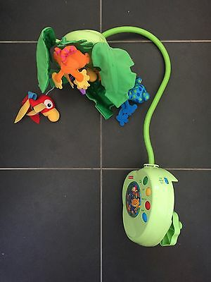 Fisher Price Baby Rainforest Cot Mobile Music & Lights Animals Green
