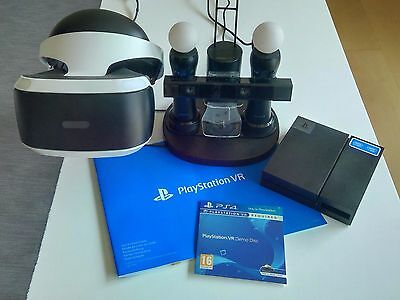 PlayStation VR Headset, PS4 Virtual Reality mit Kamera und Move Controller