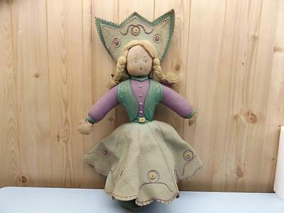 VINTAGE RAG FELT DOLL OLD ANTIQUE - 53cm TALL