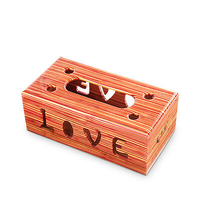 Natural Bamboo Handmade Tissue Box Cover Holder for Vehicle Z5A2