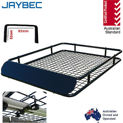 Car 4WD Steel Roof Rack Tray Basket Cargo Carrier Universal 123 x 97 x13cm New
