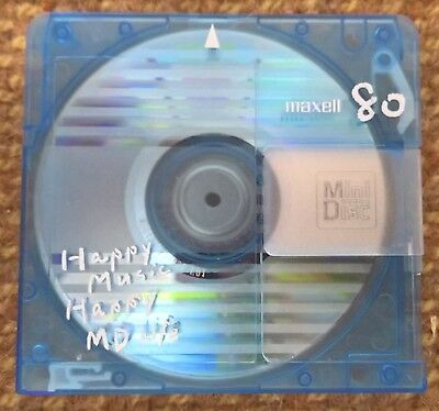 One pre-owned Maxell 80 minute MiniDisc with case   FREE PRIORITY POST