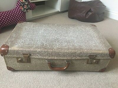 Noton Vintage Retro Brown Suitcase Wedding Prop Decoration