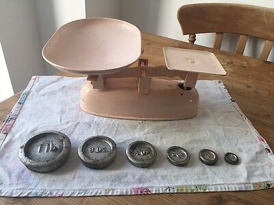 Vintage Retro Kitchen Scales Pink Prop Wedding Display Candy Cart Sweets